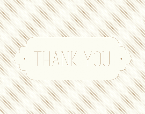 Gold Moroccan Thank You Card