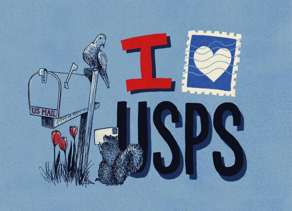 I Love The USPS Mailbox