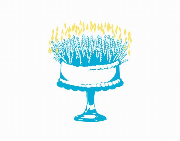 Trendy Cake Birthday Card