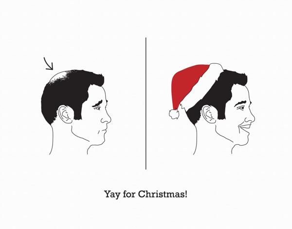 Silly Santa Hat Christmas Card
