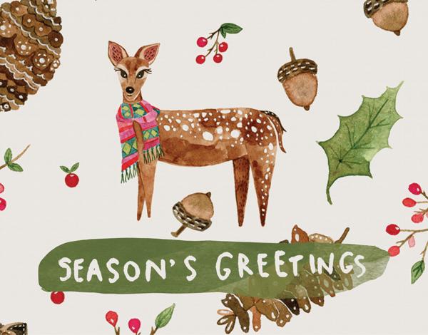 unique-painted-seasons-greetings-card