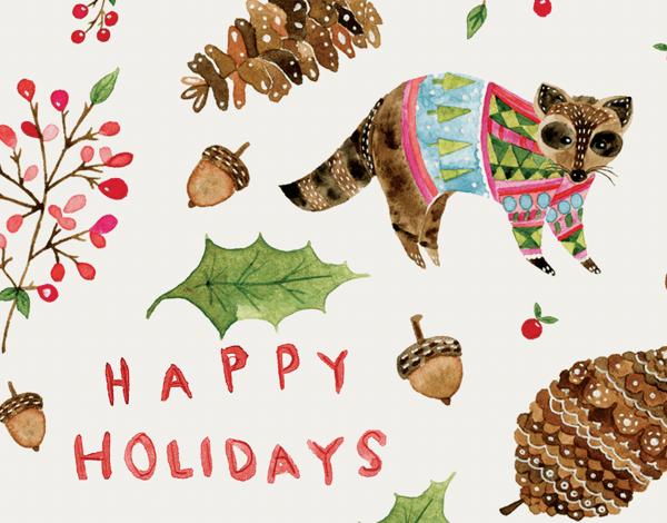 Holiday Raccoon