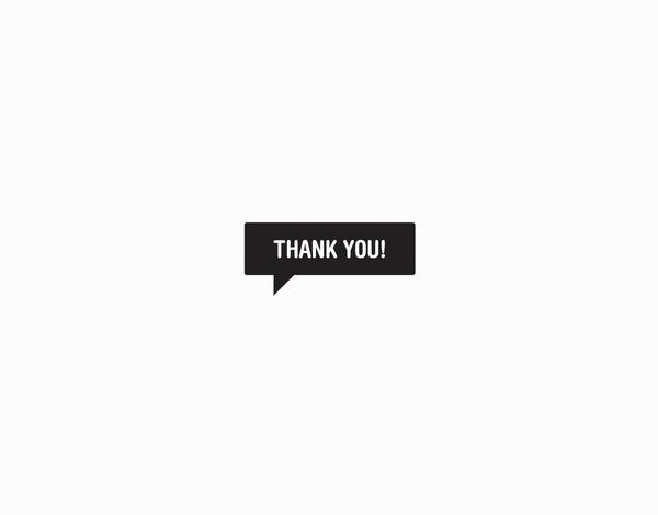 Black Thank You Blurb Greeting