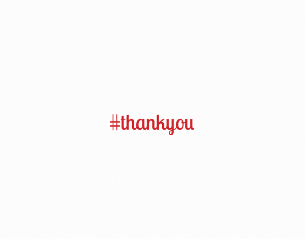 Red Thank You Hashtag Greeting Card