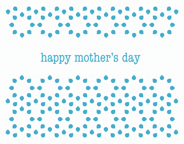 Happy Mother's Day Card with Blue dots