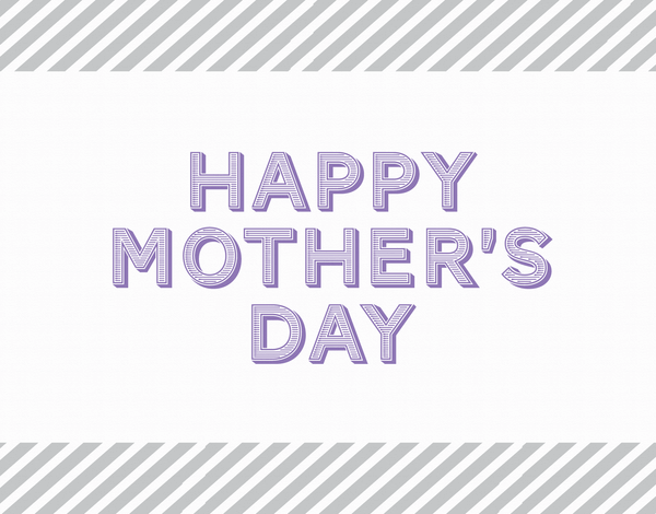 Timeless striped Happy Mother's Day Card