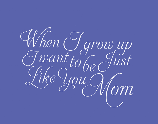Sophisticated Purple Mother's Day Card