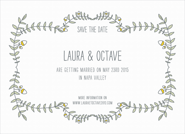 Earthy Leaves Save The Date