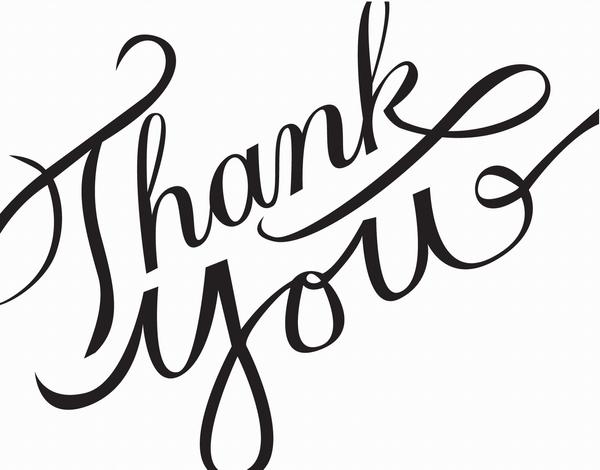 Thank you calligraphy.
