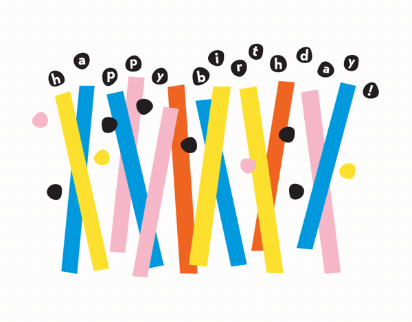 Abstract Birthday Candles