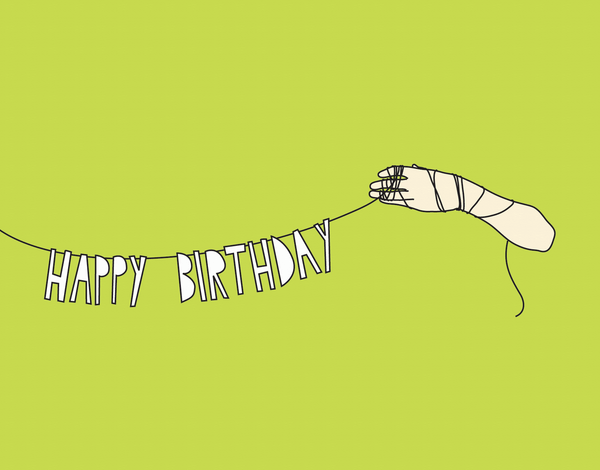 Playful Banner Typography Birthday Card