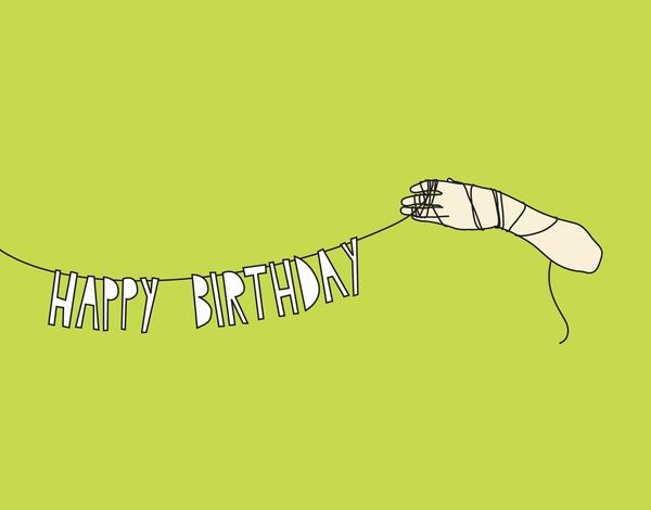 Playful Banner Typography Birthday Card