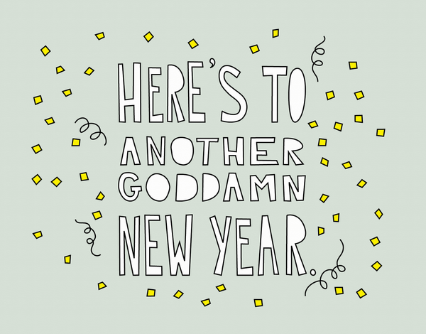 Modern Cheerful New Years Card