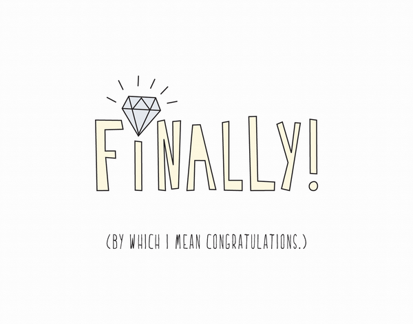 Quirky Wedding Congratulations Card