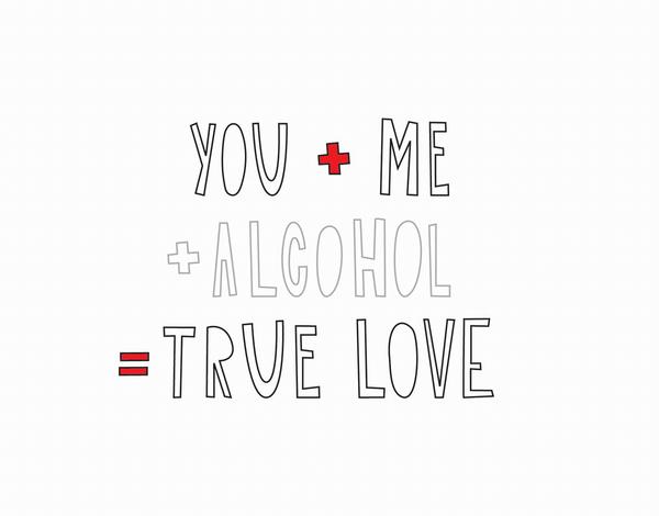 Playful True Love Valentine Card
