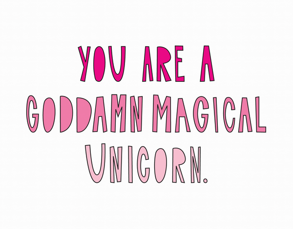 Magical Unicorn Valentine Card