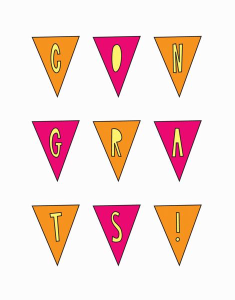 Cheerful Pennants Congrats Card
