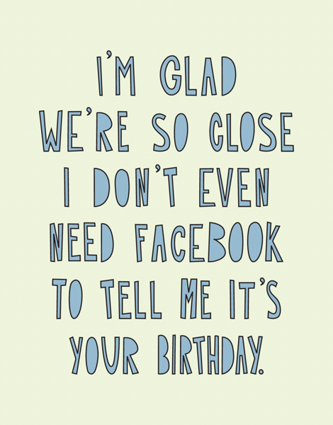 Facebook Birthday Card