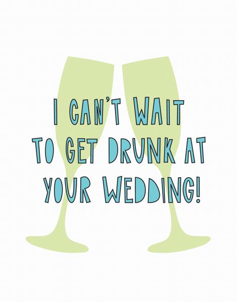 Sarcastic Wedding Congrats Card