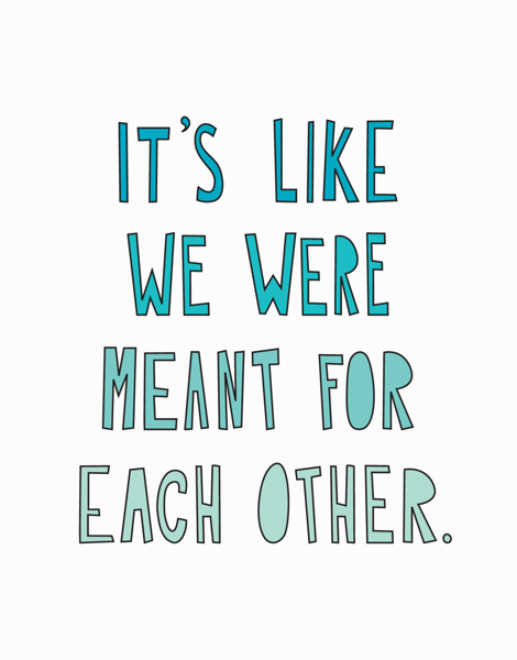 Meant For Each Other Valentine Card