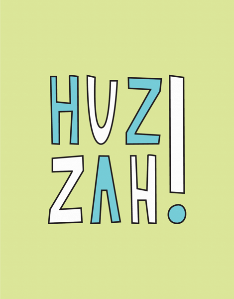 Huzzah Congrats Card