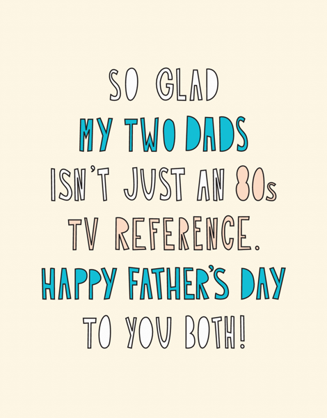 Two Dads Father's Day Card