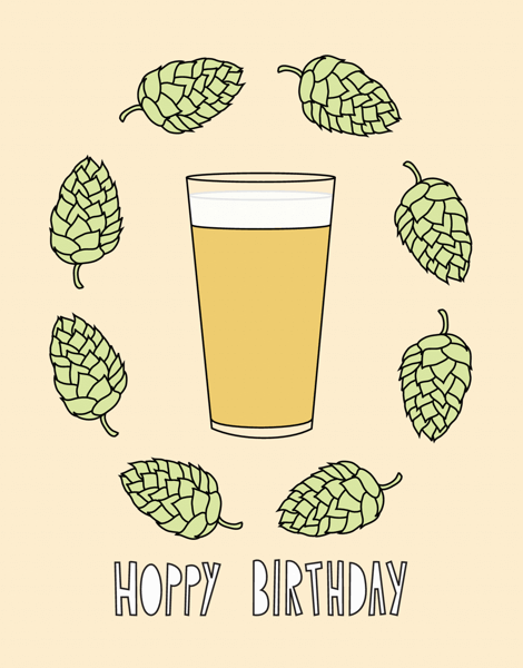 Funny Beer Birthday Card