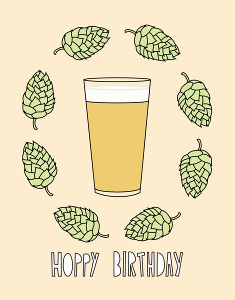 Funny Beer Birthday Card