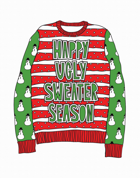 Happy Ugly Sweater Season Holiday Card