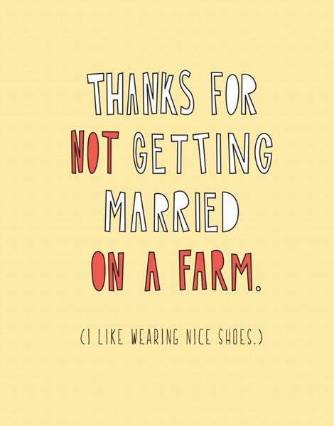 Not a Farm Wedding