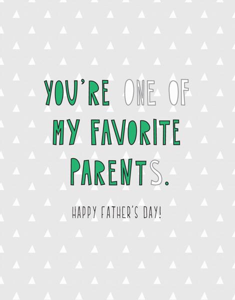 Favorite Parent Dad
