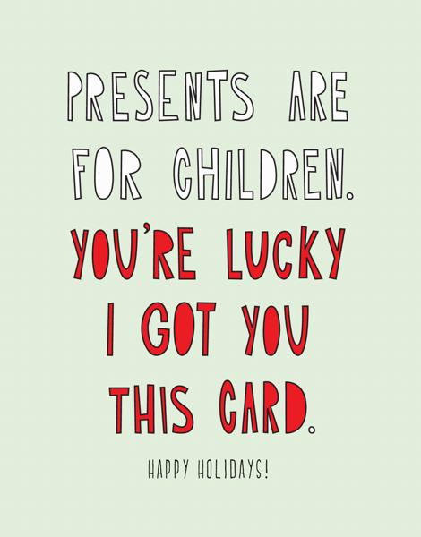 Lucky Holiday Card