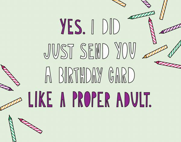 Proper Adult Birthday