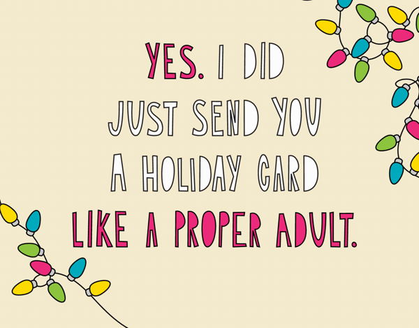 funny modern holiday card