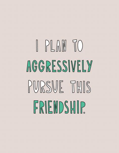 Pursue This Friendship