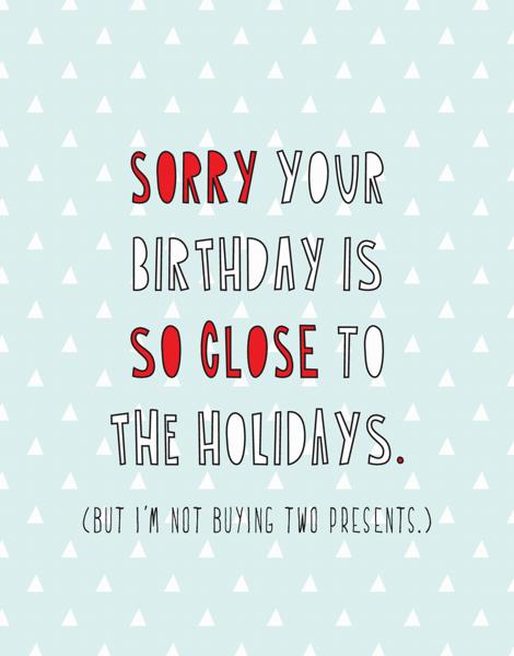 Holiday Birthday