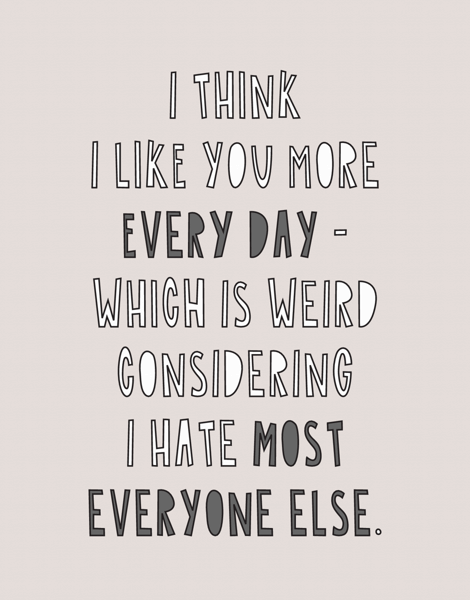 I Like You More Every Day
