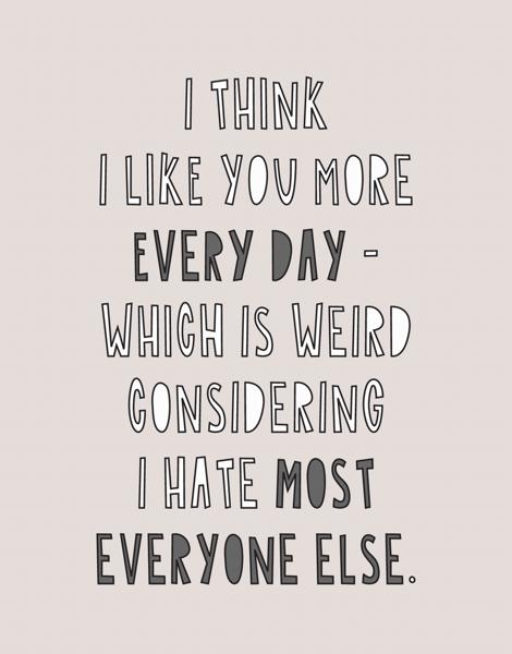 I Like You More Everyday