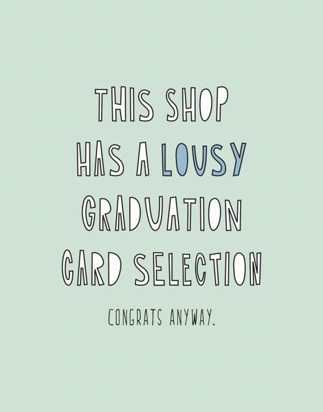 Lousy Graduation Card Selection