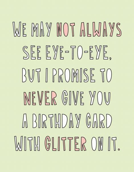Never Glitter