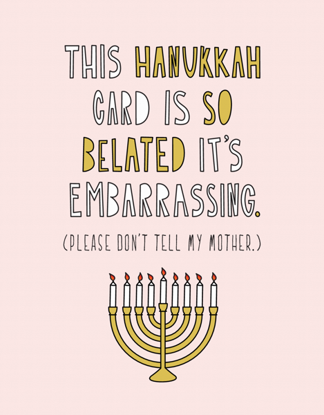Extra Belated Hanukkah Card