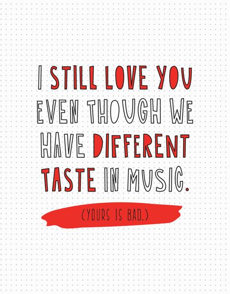 Different Taste In Music