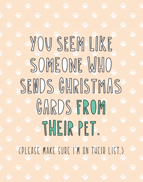 Cards From Their Pet