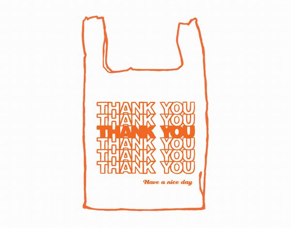 Plastic Thank You Bag Card