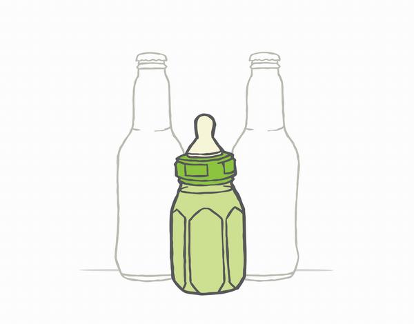 Beer Bottles Congrats baby Card