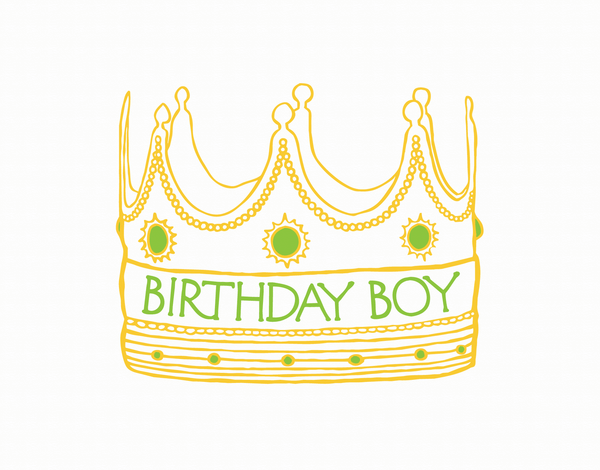 Birthday Boy Crown Card