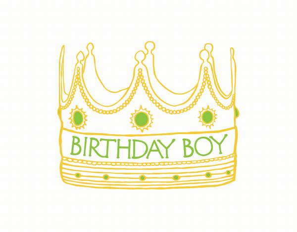 Birthday Boy Crown Card