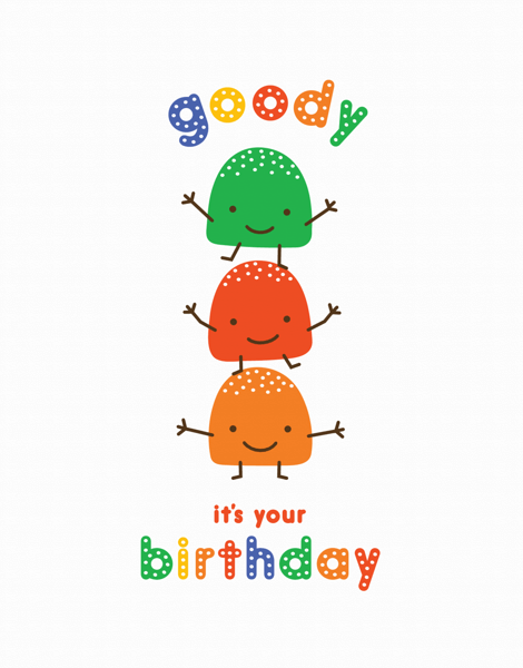 Cheerful Goody Gumdrops Birthday Card