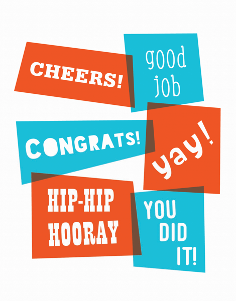 Colorful Congratulations Card