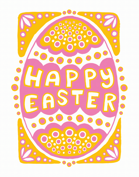 Pretty Easter Egg Happy Easter Card